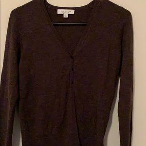Brown Long Sleeved Cardigan.
